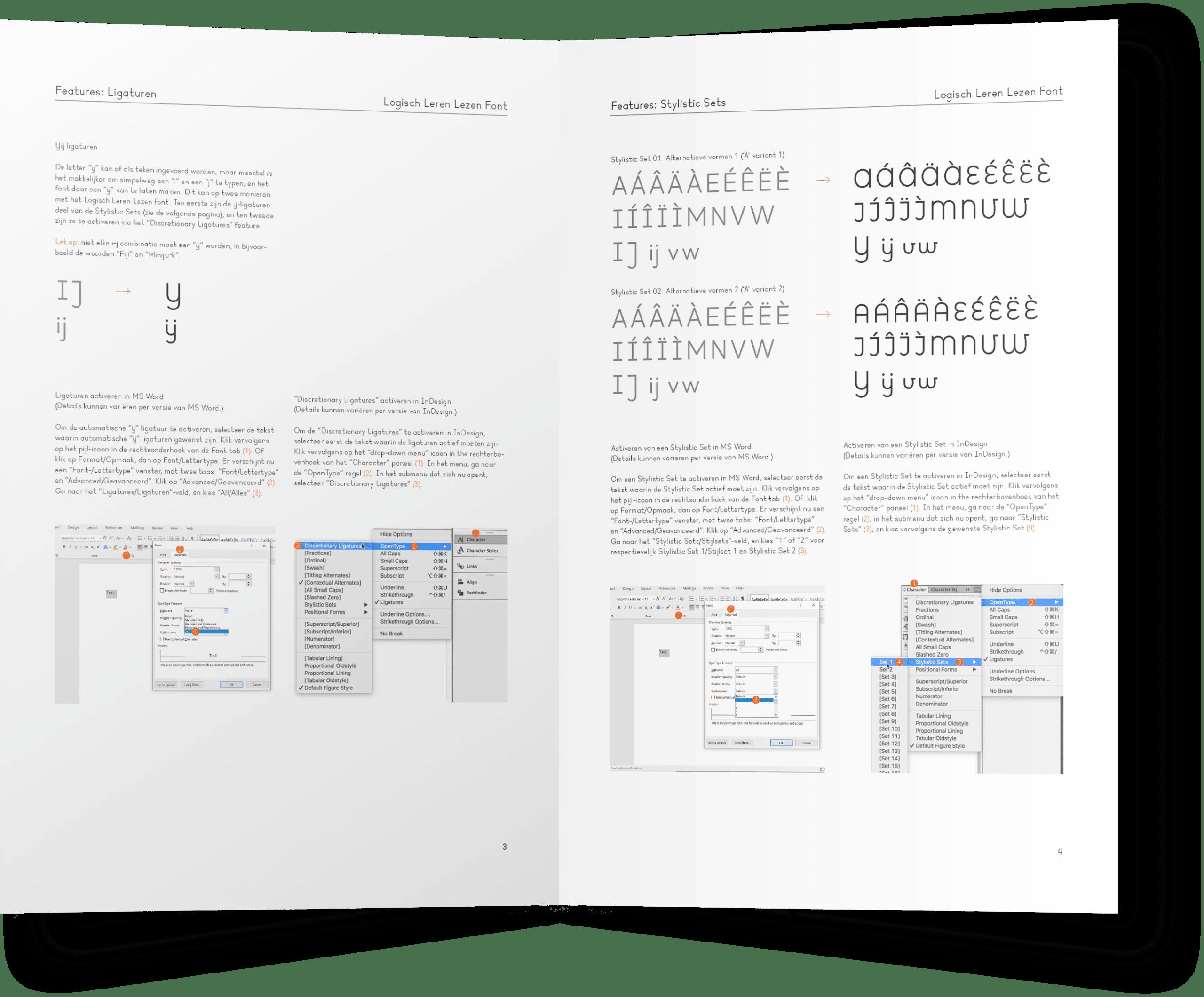 Handboek lettertype Logisch Leren Lezen